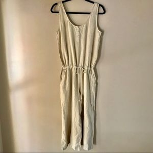 NWOT Anthropologie Cloth & Stone Linen Romper